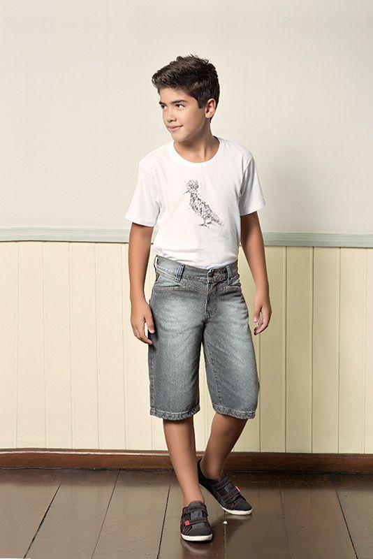 M2A Jeans | Fall Winter 2014 | Teen Collection | Outono Inverno 2014 | Coleção Juvenil | peças | bermuda jeans masculina; camiseta masculina; jeans; denim.