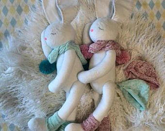 Peluches bebé ducha conejito de peluche de juguete de regalo para bebé regalos personalizados peluches conejo blanco relleno blanco de animales conejo juguete bebé Consolador