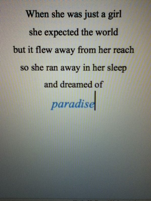 and dreamed of paradise #coldplay http://media-cache5.pinterest.com/upload/47217496063246547_D1E7oASA_f.jpg shnnn5wright quotes to live by