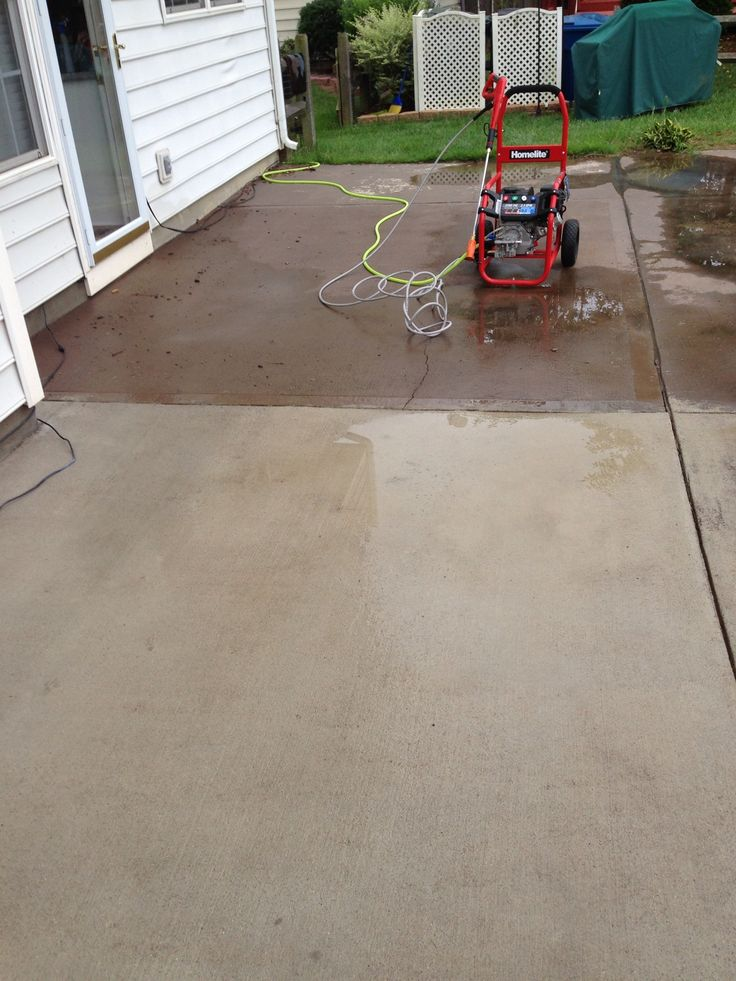 17 best images about pressure cleaned concrete on for Pressure wash concrete patio