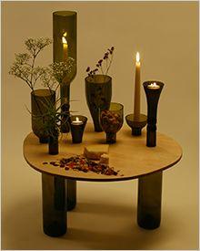 Мебель из винных бутылок