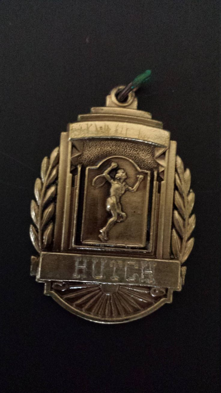 1966 Mens Boys Tennis Doubles Medal Engraved HUTCH 3rd Place by DogGoneJunquer on Etsy