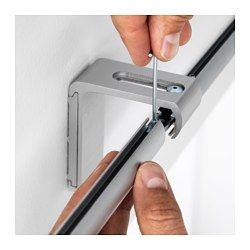 IKEA - KVARTAL, Riel de cortina de 1 raíl, Si necesitas alargar el riel, utiliza los conectores que se incluyen.El riel se puede montar a la pared o al techo utilizando los herrajes apropiados, que se venden por separado.El riel se puede cortar a la longitud deseada con una sierra para metales.Puedes añadir este riel al que ya tengas para crear una solución doble.