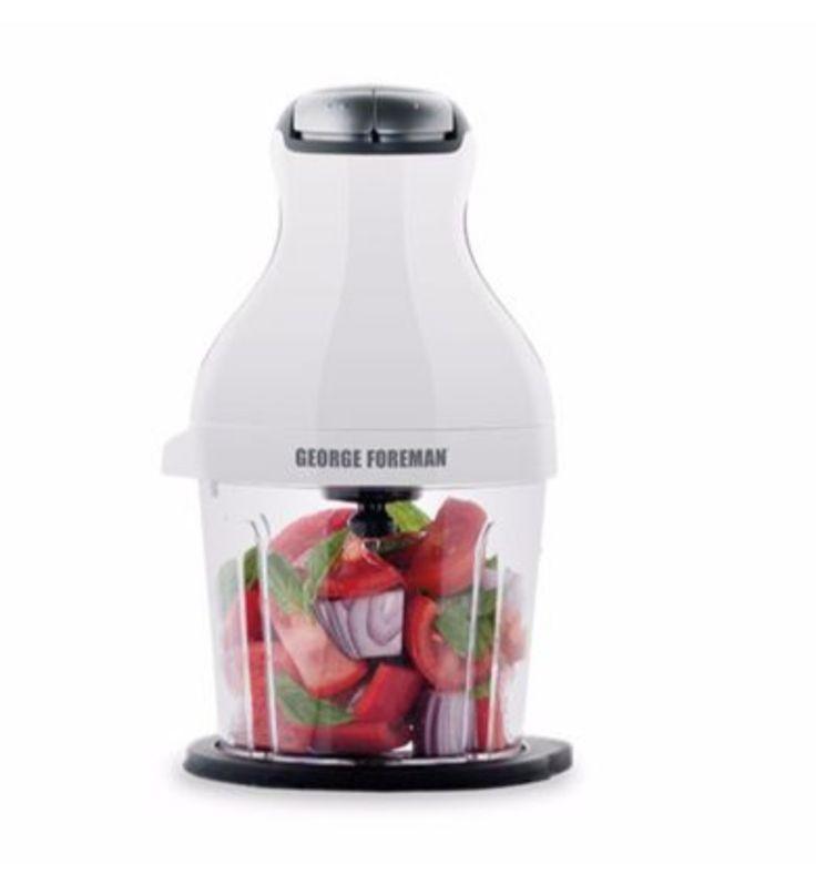 George Foreman Infinity Chopper - 350W - Small Food Processor Blender Mixer