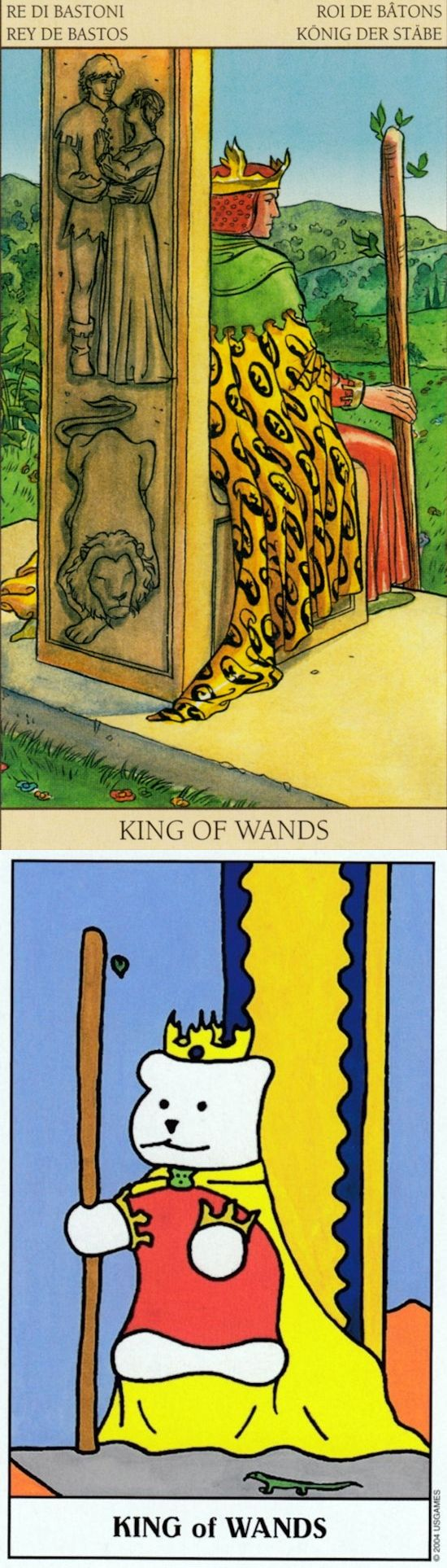 King of Wands: leader and unachievable expectations (reverse). New Vision Tarot deck and Gummy Tarot deck: free instant tarot card reading, tarotset vs parrot reading cards. The best spelljammer and paganism beliefs. #spellwork #iosapplication #temperance # #tarot