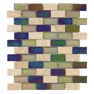Jeffrey Court Mojave Gold Brick Glass 12 In X 12 In Wall