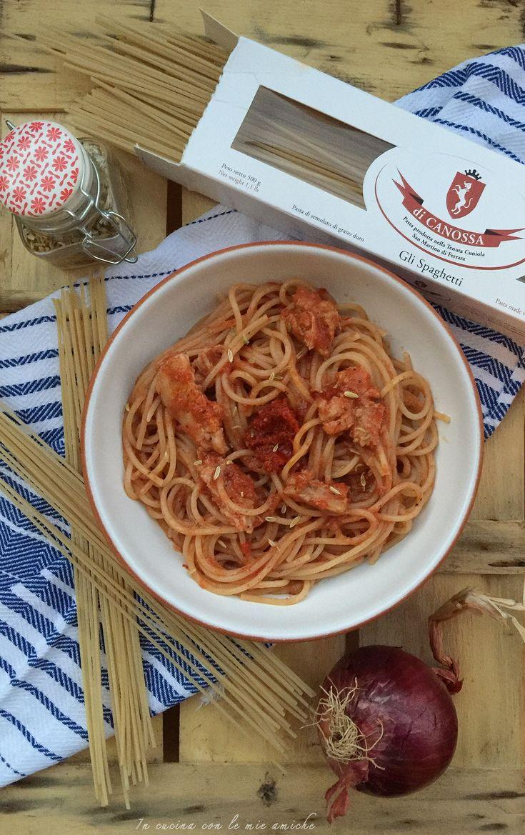 Spaghetti al sugo con carne 'ncantarata