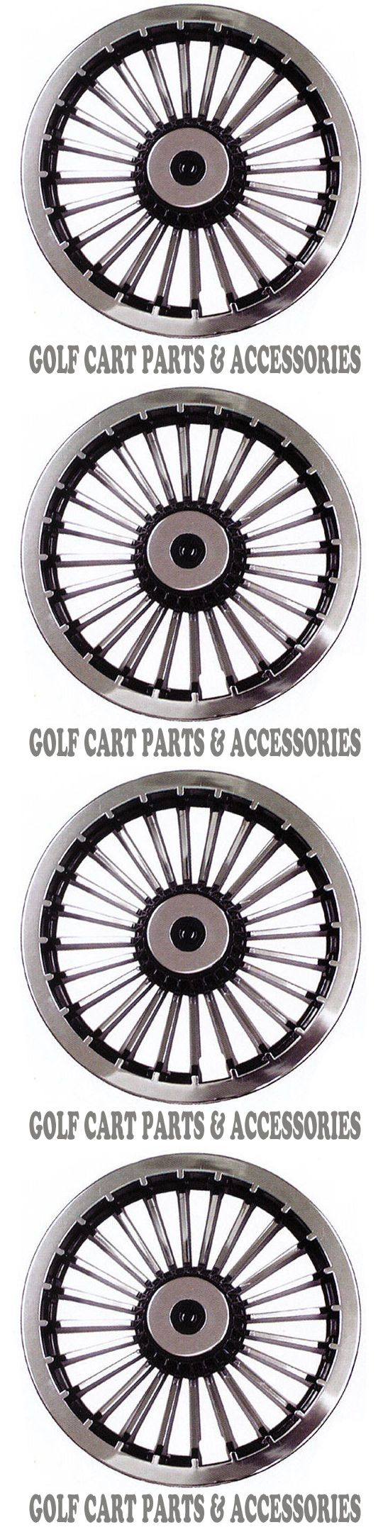 Other Golf Accessories 1514: Chrome 8 Golf Cart Hub Caps - Ezgo, Club Car, Yamaha Set Of 4 Wheel Covers New -> BUY IT NOW ONLY: $39.89 on eBay!