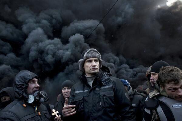 Vitali Klitschko during Ukraine protests, January 2014, Kiev, Ukraine.
