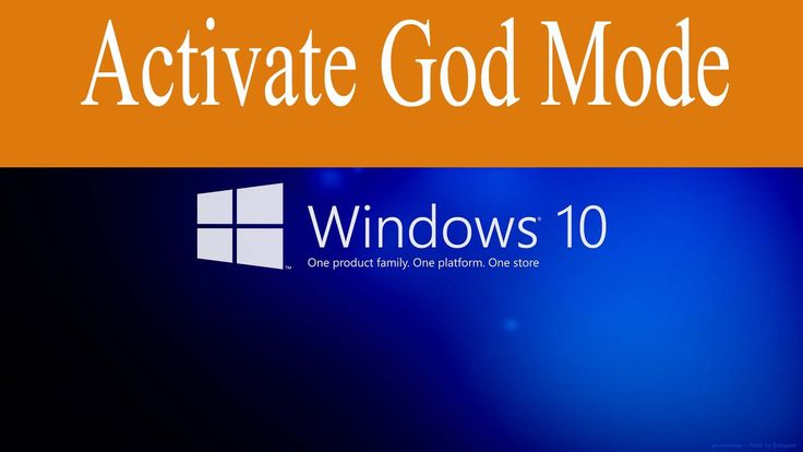 How to Enable or Activate GOD Mode in Window 10