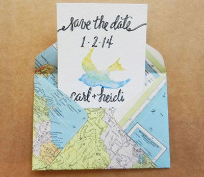 Learn how to make a handmade envelope using upcycled paper and vintage maps with these step-by-step instructions.