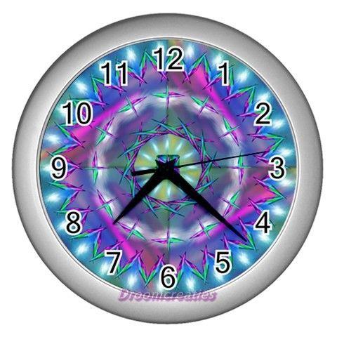 Wall clock Cosmic Energy http://www.artravesupercenter.com/droomcreaties/?SectionCode=@Erin Whatley Lockerman