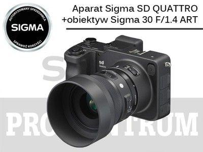 Aparat Sigma SD QUATTRO + Sigma 30/1.4 ART DC HSM