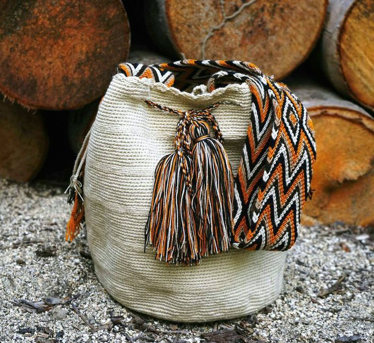 Wayuu Bag-Plain/Taupe - Alynshop