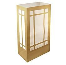 Luminaria Bags - 24 Count - Gold Lantern