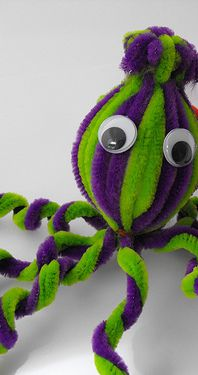 Octopus pipe cleaner craft.           Gloucestershire Resource Centre http://www.grcltd.org/home-resource-centre/