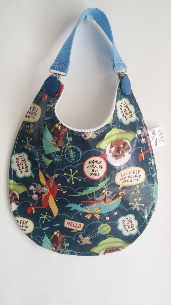 Baby Bib, Laminated Bib, Waterproof Bib, Baby Boy Bib, Animal Bib, Plastic Bib, Airplane Bib, Baby Shower Gift, Vinyl Baby Bib,