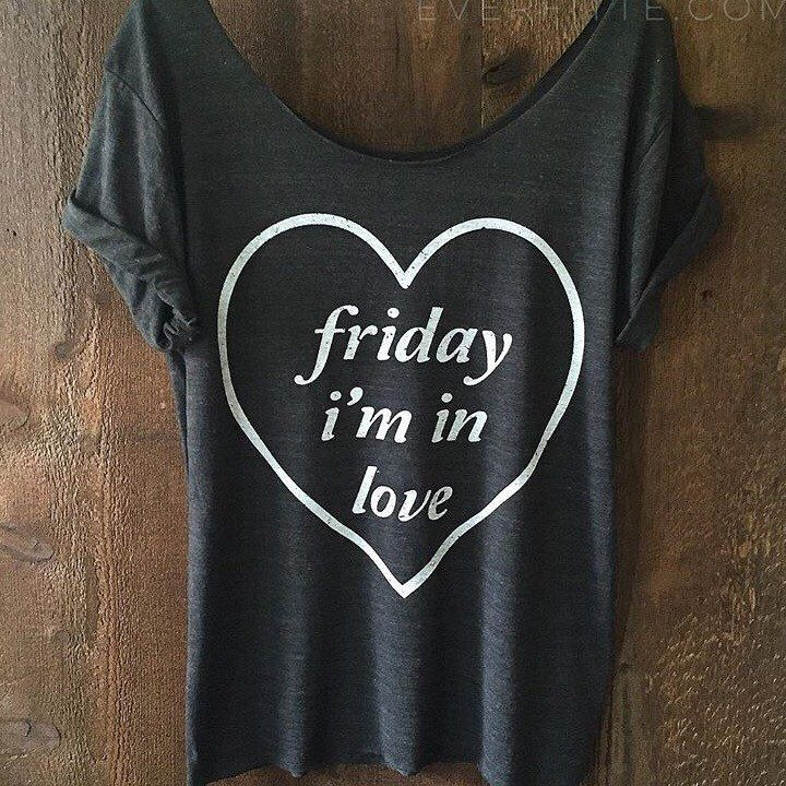 FRIDAY I'm in love distressed, off-shoulder, Raw Neckline & Hem Swanky Tee - ONE SIZE by everfitte on Etsy https://www.etsy.com/listing/252214651/friday-im-in-love-distressed-off