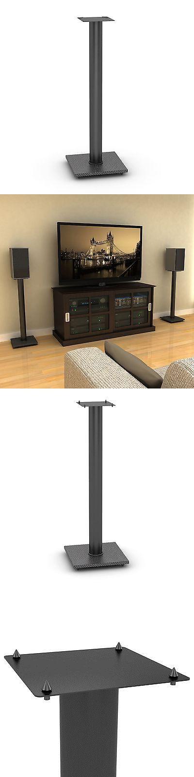 Speaker Mounts and Stands: Atlantic Adjustable Bookshelf Speaker Stand (Set Of 2) New BUY IT NOW ONLY: $62.88