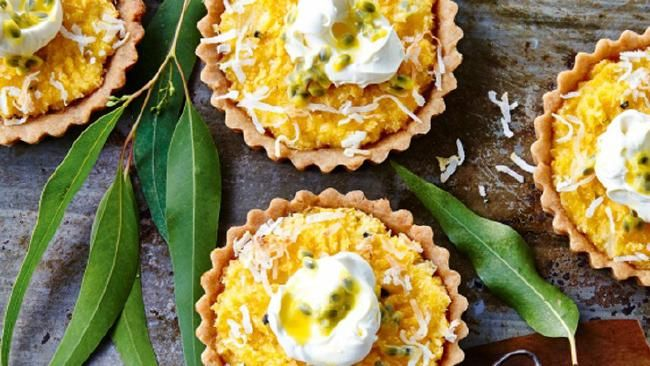 Recipe of the day: Pineapple coconut tarts I Taste.com.au   #desserts #sweet #tropicaltreat
