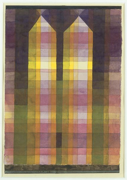 Paul Klee, double tower, 1923. His style ranges from surrealism, expressionism and abstraction