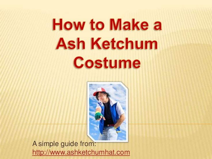 A simple guide to making a Ash Ketchum costume! Great for Halloween or children's dress up party. Brought to you by http://www.ashketchumhat.com