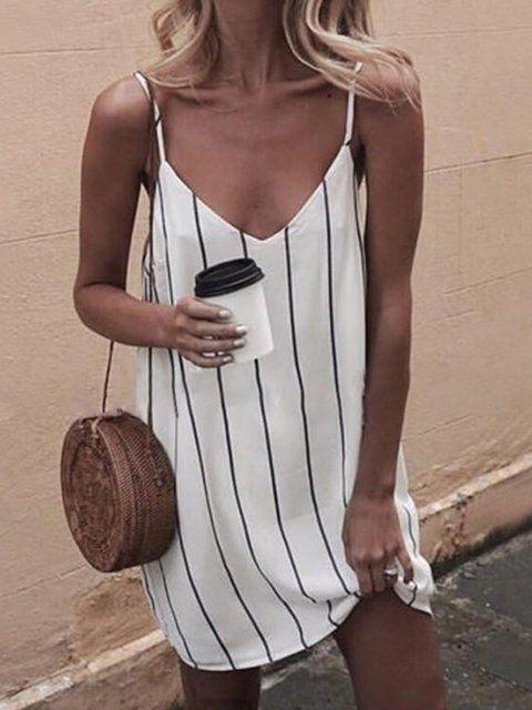 c83604e81c4 Buy Summer Dresses For Women at JustFashionNow. Online Shopping Women V neck  Spaghetti Summer Dress Stripe Dress