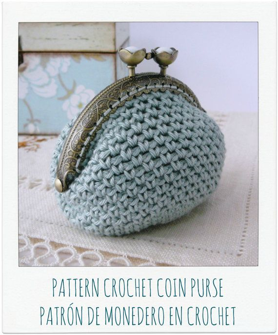 Coin Purse Crochet Pattern : Super sweet....love the colour!