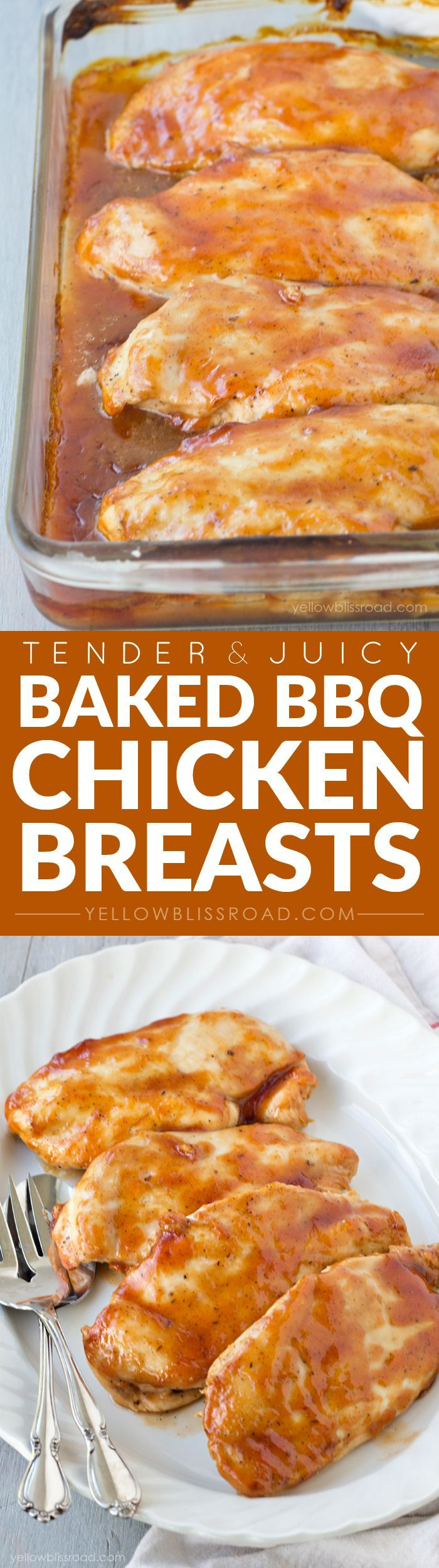 Tender and Juicy Oven Baked Barbecue Chicken Breasts - followed this ckg method with homemade sauce