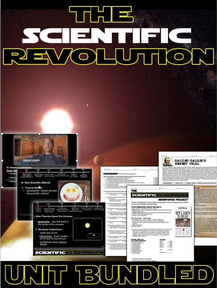 Scientific Revolution Unit Bundled includes Scientific Revolution PowerPoint with video clips and presenter notes. This Mini-Unit also includes, warm up PowerPoints, a primary source activity, project, exit tickets, crossword review, and editable assessment. Everything is put together with detailed daily lesson plans. Just copy and paste to your lesson plans. Sometimes the Scientific Revolution is included in Renaissance Units and others in Age of Enlightenment Units. This can work with…