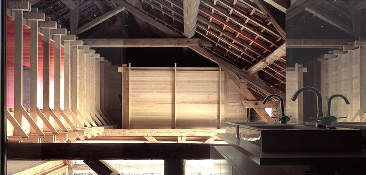 vue de la chambre de l 39 tage vers la salle de bain. Black Bedroom Furniture Sets. Home Design Ideas