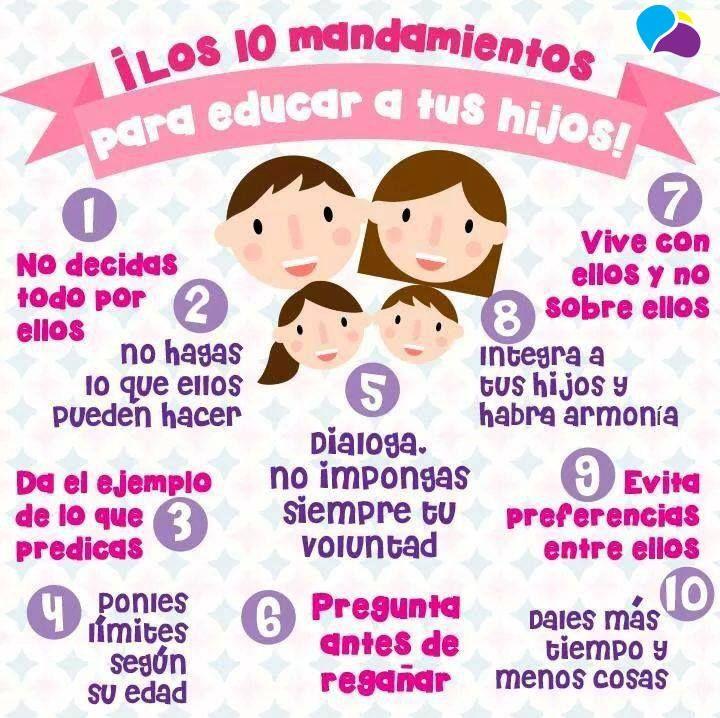 Los diez mandamientos para educar a tus hij@s