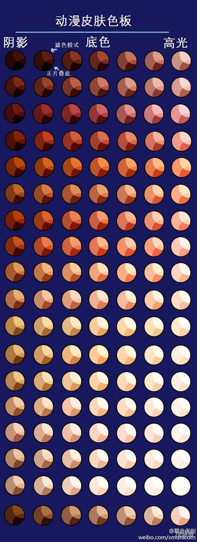 Палитра: цвета кожи