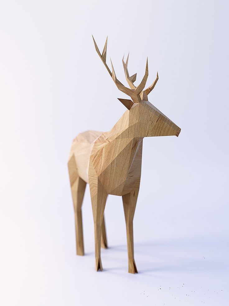 PolyWood: Clever concepts of wooden toy animals rendered in polygons   Creative Boom