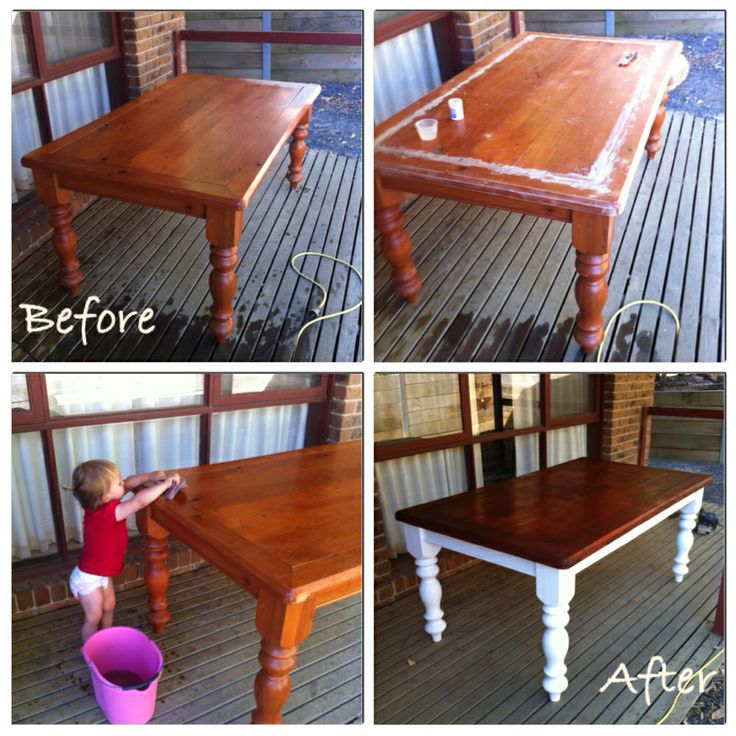 Brought the old table back to life. Bench seats to follow...