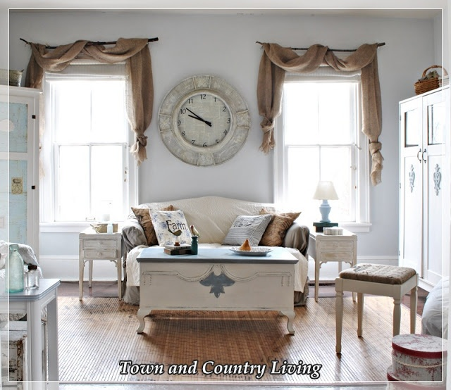 17 Best images about Burlap curtains on Pinterest | No sew ...
