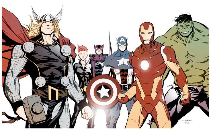 The Avengers - colors by *marciotakara: Avengers Assemble, Marcio Takara, Marciotakara, Marvel Comic, Comic Book, Super Heroes, Comics, The Avengers, Superhero