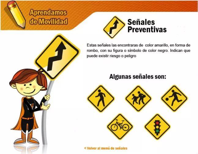 Señales preventivas - Secretaria Distrital de Movilidad