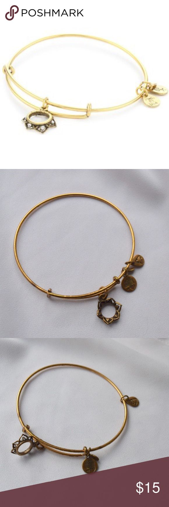 Alex & Ani Queen's Crown Charm ALEX & ANI: Self confidence and authority blossom from within. Wear this charm to take charge and be all you can be. 🔸🔸 great condition and small diamonds in the crown itself. Alex & Ani Jewelry Bracelets