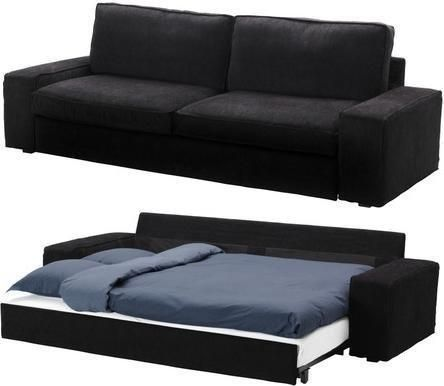 Slipcover for Ikea Kivik 3 Seat Sofa Bed Slipcover, Tranas Black Sleeper Cover:Amazon:Home & Kitchen from Amazon. Saved to Things I want as gifts. #sofa #bed #cool #futon #livingroom #epic #sofabed #pullout.