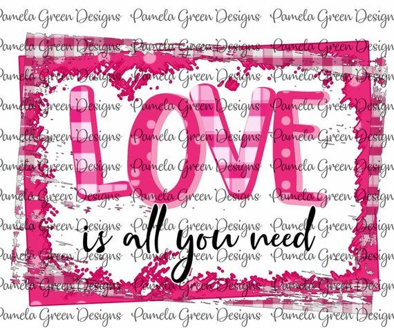 Download Valentine Love is all you need Frame Valentines Day ...