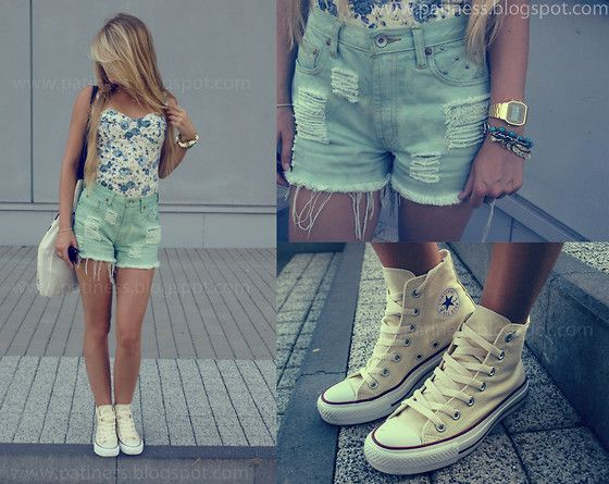 natural white converse high tops Online