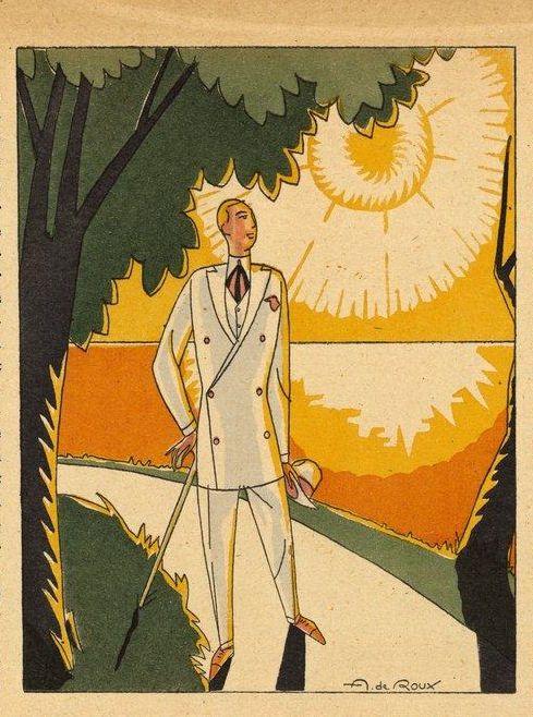 """André De Roux 1922 """"Pour Le Bel Été / Monsieur Magazine"""