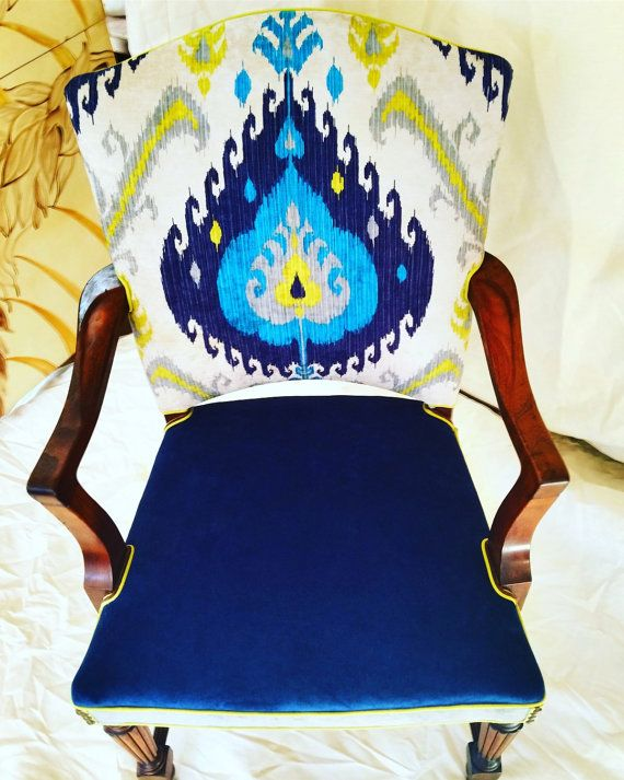 SOLD Vintage Parsons chair by boltonk on Etsy