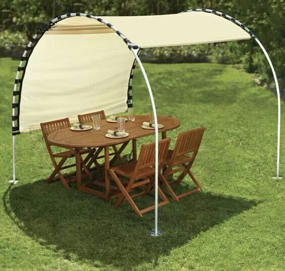 Pvc canvas shade do it yourself projects pinterest for Pvc pipe shade