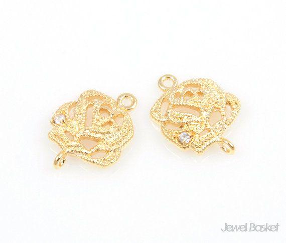 - High Polished Gold Plating Color (Tarnish Resistant) - Brass / 10mm x 13mm - 2pcs / 1pack