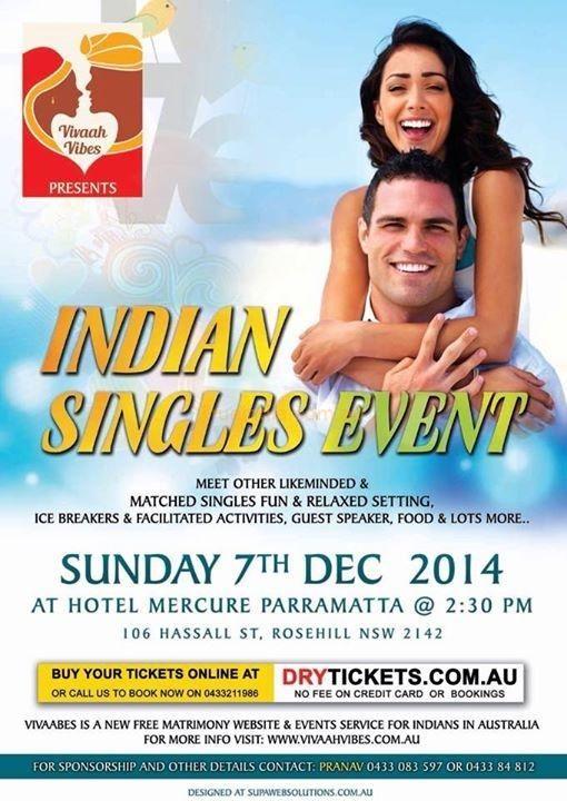 Vivaah Vibes Presents Indian Singles Event on 7th December 2014 at Parramatta Sydney - SLSE India