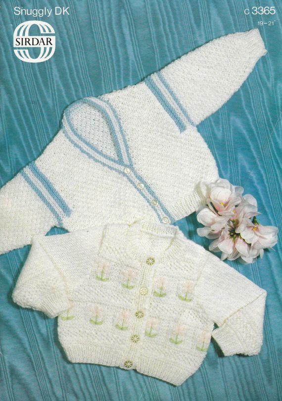 3365 Sirdar Knitting Pattern Baby Cardigans by MadelainePatterns, £1.50