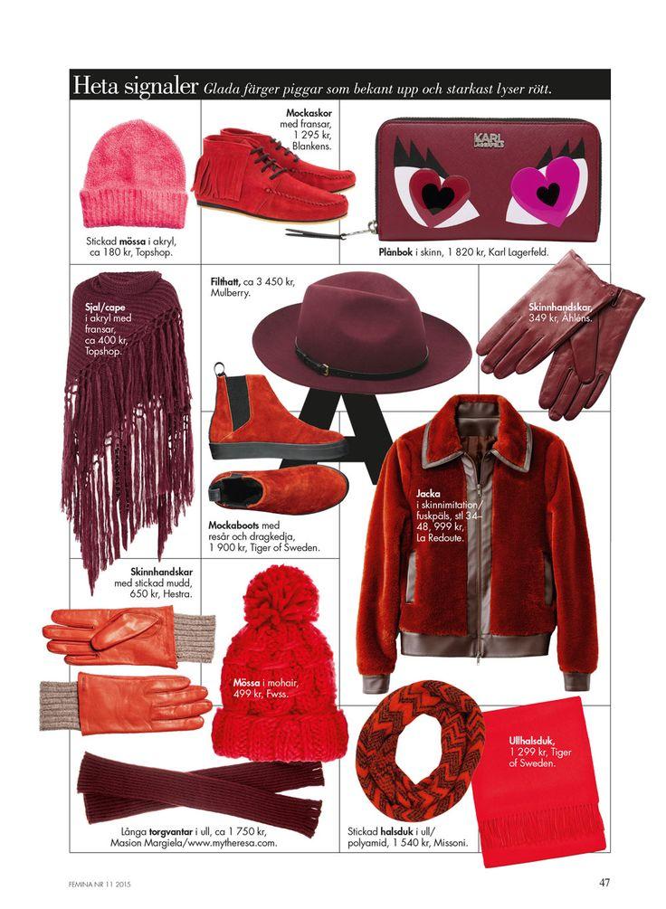 Vinterns vänner – Röda favoriter http://www.femina.se/kategori/mode/
