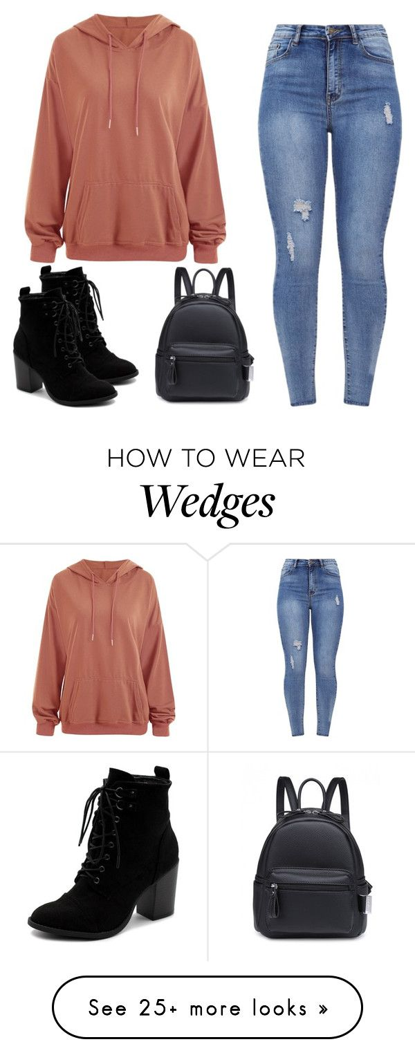 """Chunky Wedge"" by alyssa160022 on Polyvore featuring Ollio"